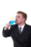 Young businessman and drink Royalty Free Stock Images