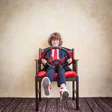 Young businessman. Driver child businessman. Start up business concept Stock Images