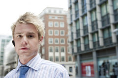 Young Businessman Earphone Stock Images