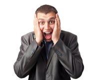 Young businessman enjoying success Stock Image