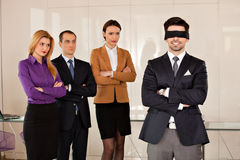 Young businessman eyes covered Royalty Free Stock Photography