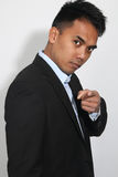 Young Businessman Filipino. Over a white background Stock Photo
