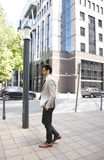 Young businessman in financial district Stock Images