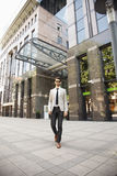 Young businessman in financial district Royalty Free Stock Photos