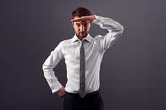 Businessman find new job. Young businessman find new job Stock Photography