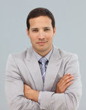 Young businessman with folded arms Royalty Free Stock Photo