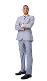 Young businessman with folded arms Royalty Free Stock Photography