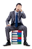 Young businessman with folders Stock Images