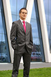 A young businessman in formal clothes Stock Photo