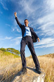Young businessman freedom Royalty Free Stock Images