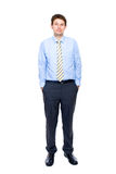 Young businessman full body shoot, isolated Stock Image