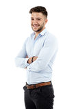 Young businessman, full length Royalty Free Stock Images