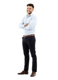 Young businessman, full length Royalty Free Stock Photos