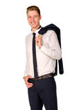 Young businessman full length portrait Stock Photo