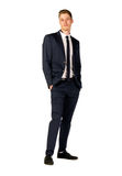 Young businessman full length portrait Royalty Free Stock Photos