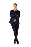 Young businessman full length portrait. Isolated Stock Photo