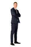 Young businessman full length portrait. Isolated Stock Images