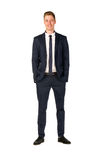Young businessman full length portrait. Isolated Royalty Free Stock Photo