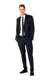 Young businessman full length portrait. Isolated Stock Photos