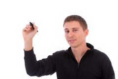 Young businessman, full of thoughts Royalty Free Stock Photos