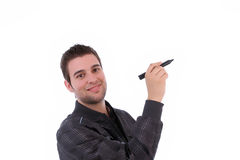 Young businessman, full of thoughts Royalty Free Stock Images