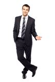 Young businessman gesturing Royalty Free Stock Photos