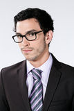 Young businessman with glasses Stock Photography