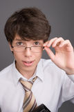 Young businessman with glasses Royalty Free Stock Photo
