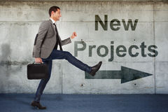 Young businessman going to the new projects Royalty Free Stock Image