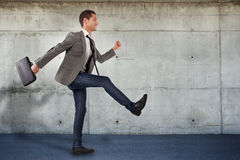 Young businessman going to the new projects Royalty Free Stock Photos