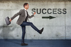 Free Young Businessman Going To The Success. Stock Photo - 29293340