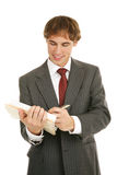 Young Businessman - Good Report Royalty Free Stock Photography
