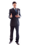 Young Businessman greeting Royalty Free Stock Image