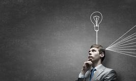 Young businessman has an idea Royalty Free Stock Images
