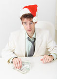 Young businessman has received new year s premium Royalty Free Stock Photos