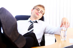 Young businessman having rest Royalty Free Stock Photo