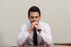 Young Businessman Having Stress In The Office Stock Image
