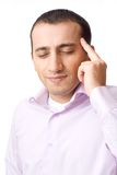 Young businessman with a headache Stock Image