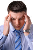A young businessman headaches Royalty Free Stock Photography