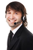Young businessman with headset Stock Photo