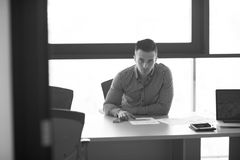 Young businessman at his desk in office Royalty Free Stock Image