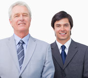 Young businessman with his mentor Stock Images