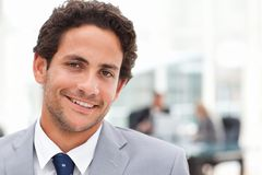 Young businessman in his office Royalty Free Stock Photos