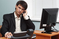 Young businessman in his office Stock Photos
