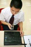 Young  businessman in his office Royalty Free Stock Photography
