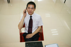 Young  businessman in his office Stock Photography