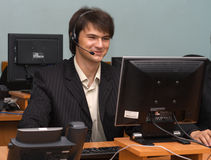 Young businessman in his office Stock Image
