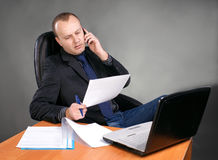 Young businessman at his workplace Royalty Free Stock Image