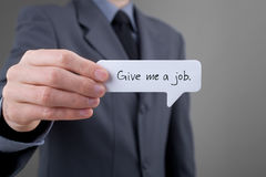 Give me a job Royalty Free Stock Photos