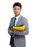 Young businessman hold with folder Stock Photography